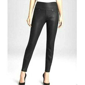 Spanx Alexia Ready to Wow Coated Black Jeans L